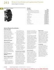 Hydraulic-Magnetic Circuit Breakers - Klockner Moeller Parts