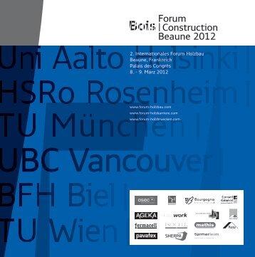 Forum |Construction Beaune 2012 - Forum Bois Construction