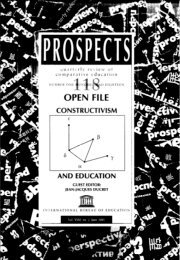 Constructivism and education; Prospects ... - unesdoc - Unesco