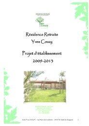 Projet d'établissement - Maison de Retraite Yves COUZY