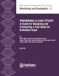 PREPARING A CASE STUDY - Pathfinder International