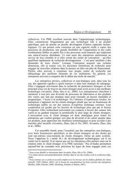 Wei ZHAO et Rigas ARVANITIS - Region et Developpement