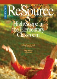 Resource - High/scope In The Elementary Classroom