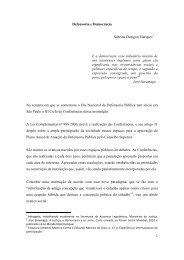 Defensoria e Democracia Sabrina Durigon Marques E a democracia ...