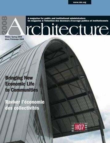 Raviver l'économie des collectivités - Royal Architectural Institute of ...