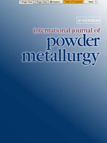 E-IJPM: Vol. 47/2 - MPIF