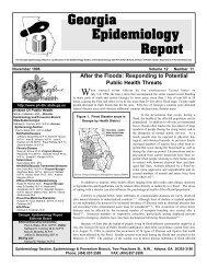 Georgia Epidemiology Report - Georgia Division of Public Health