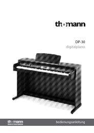 Bedienungsanleitung - Musikhaus Thomann