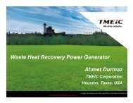 Ahmet Durmaz Waste Heat Recovery Power Generator