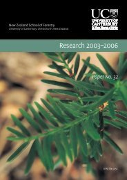 Research 2003-2006 (pdf, 1MB) - New Zealand School of Forestry