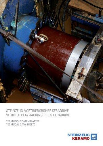 Steinzeug-Vortriebsrohre KeraDrive, Datenblätter - Keramo Steinzeug