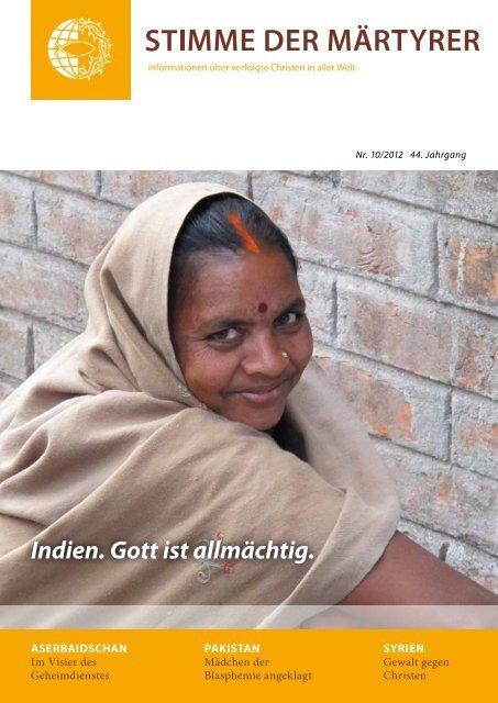 Ausgabe Oktober 2012 - HMK - Hilfe für verfolgte Christen