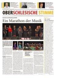 Ein Marathon der Musik - DFK Schlesien
