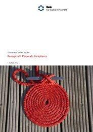 Konzeptheft Corporate Compliance - Bank für Sozialwirtschaft