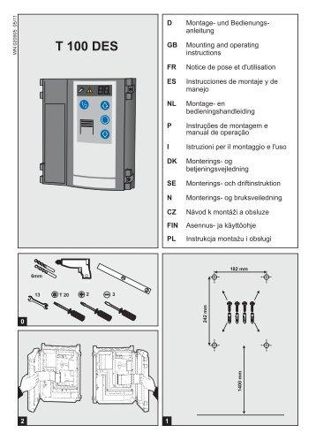 TS 100 ohjauskeskuksen asennusohjeet - Turner Door