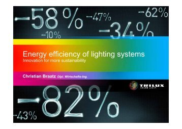 Energy efficiency of lighting systems - Collaborating Centre on ...