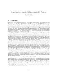 Schadenreservierung im Licht stochastischer Prozesse