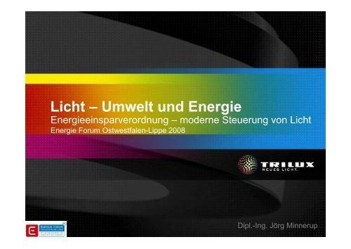 Licht – Umwelt und Energie