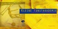 Kleine Kunstakademie 2013 - Galerie Zukunftslabor