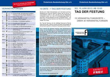 Tag der FesTung - Ulm/Neu-Ulm