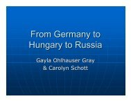 From Germany to Hungary to Russia - GRHS