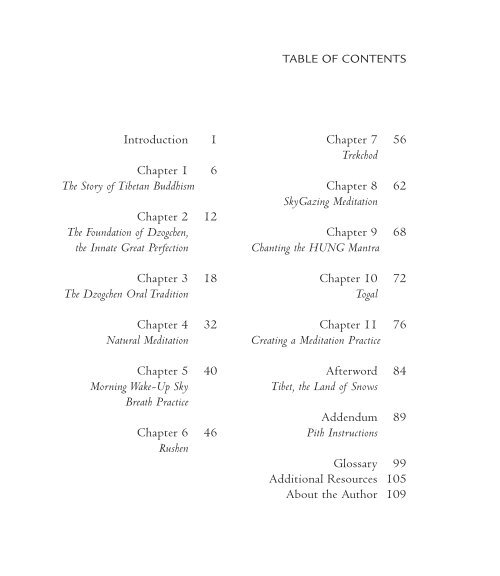 Introduction 1 Chapter 1 6 The Story of Tibetan Buddhism Chapter 2 ...