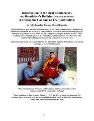 Introduction by Dzogchen Khenpo Chöga - Lightwatcher