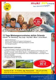 FLORIDA FAMILY FUN 80 € - muki sun and more