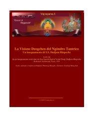 La Visione Dzogchen del Ngöndro Tantrico Un insegnamento di SS ...