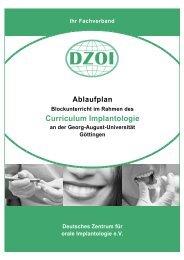 Curriculum Implantologie - Deutsches Zentrum für orale ...