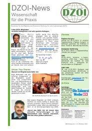 DZOI Newsletter 3 2011 - Deutsches Zentrum für orale Implantologie ...