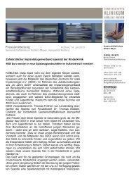 PM_Spendenbergabe DZOI - Gemeinschaftsklinikum Koblenz-Mayen