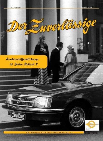 DZ-Ausgabe 156, Rubrik Historie: 25 Jahre Rekord E
