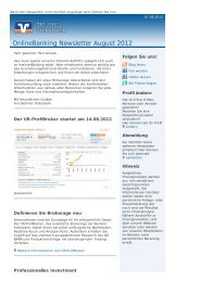 OnlineBanking Newsletter (pdf) - Berliner Volksbank
