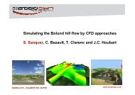 Simulating the Bolund hill flow by CFD approaches S. Sanquer, C ...