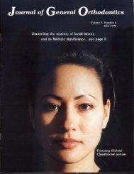 Journal of General Orthodontics June 1996, Vol - FacialBeauty.org