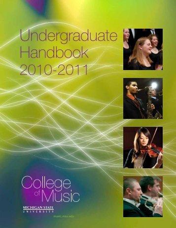 YEAR 1 - MSU College of Music - Michigan State University
