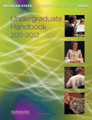 2011-12 - MSU College of Music - Michigan State University