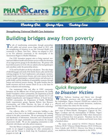 Building bridges away from poverty - PHAPCares Foundation Inc.