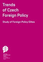 Trends of Czech Foreign Policy