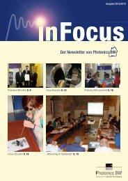InFocus: Aktueller Newsletter von Photonics BW - Photonics BW eV