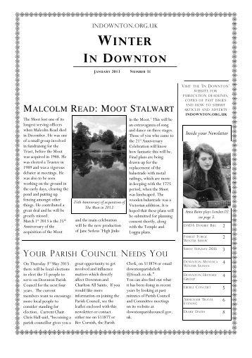 winter newsletter - Downton Village