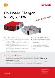 On-Board Charger NLG5, 3.7 kw