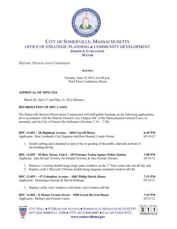 Download Agenda - City of Somerville