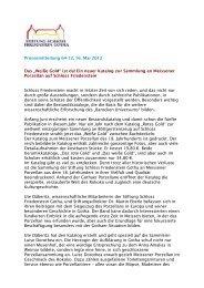 PM 64-12 Neuer Katalog zur Sammlung Meissener - Schloss ...