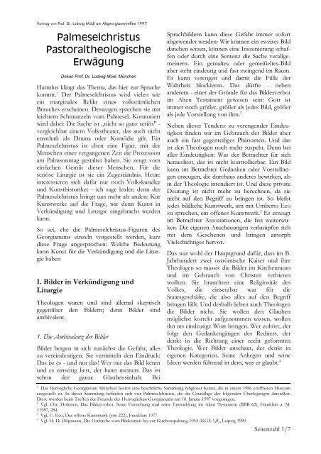 Word Pro - Palmeselchristus im Georgianum.lwp - Roehrner.de