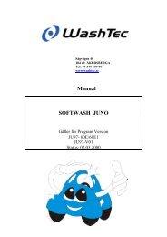 Manual SOFTWASH JUNO - WashTec Sverige AB