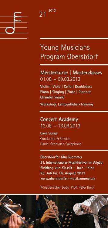 Oberstdorfer Musiksommer - Staatliche Hochschule für Musik und ...