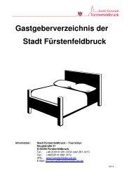 Gastgeberverzeichnis der Stadt Fürstenfeldbruck - in Fürstenfeldbruck