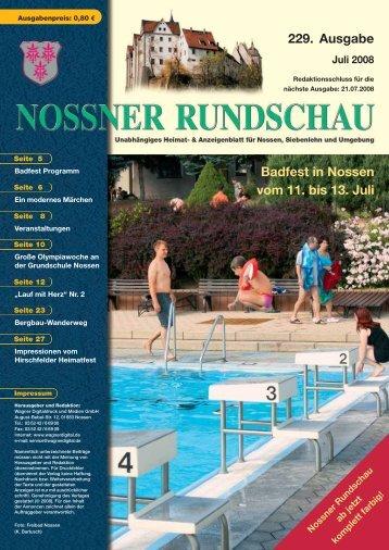 Badfest in Nossen vom 11. bis 13. Juli - Nossner Rundschau